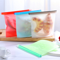 3Pcs Silicone Zip Top Containers Food Sealing Storage Bag Reusable Refrigerator Fresh Bags Zips Fruit Vegetable Sealed Cup