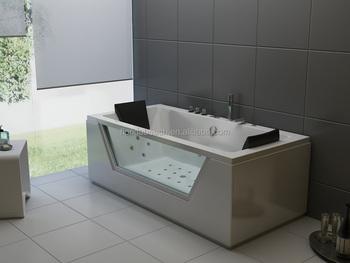 1800mm Family Rectangular Bathtub With Hand Grips/ Handle Bathtub/ 2 Person  Bathroom Massage Whirlpool