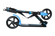 full aluminum big wheel folding push scooter with double shock absorbers