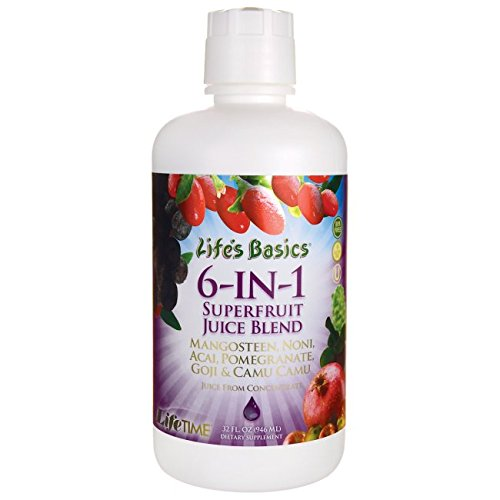 6 Blend Juice (Goji, Noni, Acai, Pomegranate, Mangosteen, Camu) LifeTime 32 oz Liquid