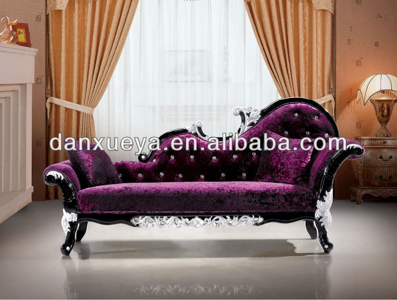chaise lounge for sale Danxueya New Classical Rococo Style Furniture  purple Double Seat  chaise lounge for sale