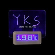 2015 Free Shipping Luminova LED Digital Clock led Luminous Message Board Alarm Clock With Calendar, Desktop Clocks hot search