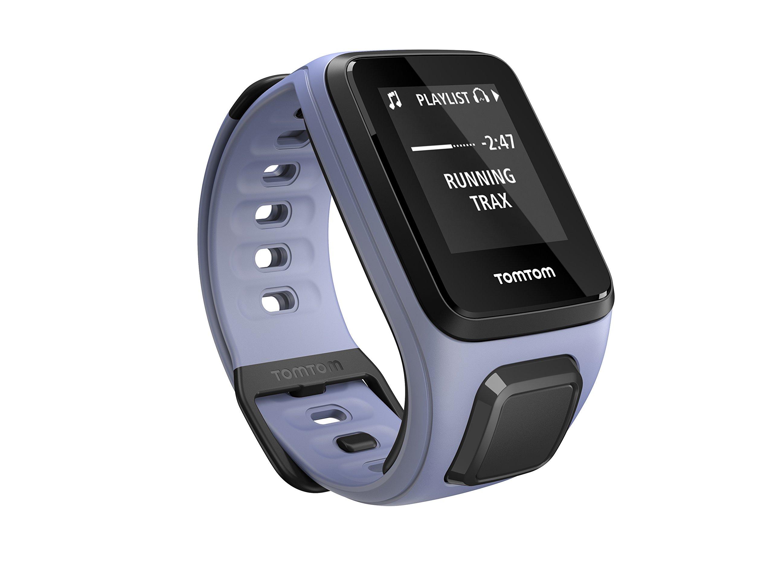 TomTom Spark Cardio + Music, GPS Fitness Watch + Heart Rate Monitor + 3GB Music Storage (Small, Purple Haze)
