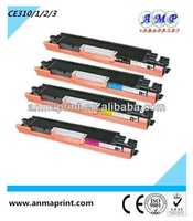 China manufacturer of office supply laser printer cartridge toner CE310 series color compatible toner cartridge for HP printer