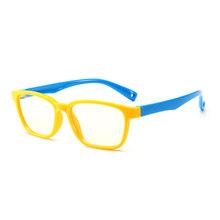 SO & EI модные детские анти-синие очки для мальчиков и девочек, прозрачные линзы, очки, силиконовые очки, оптические очки, оправа(Китай)