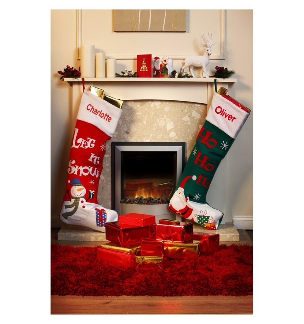 Get Quotations Personalised Extra Large Christmas Stocking Red