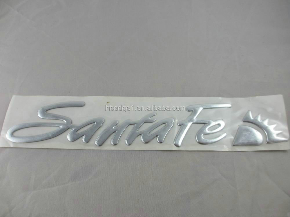 Custom 3d chrome logo sticker metallic pvc sticker 3d car emblem