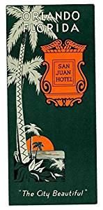San Juan Hotel Brochure Orlando Florida 1950's The City Beautiful
