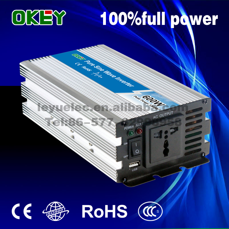 OKEY OPIP-600-1 Small Size Pure Sine Wave Inverter 600W 1200W CE ROHS Approved DC AV 100 110 120V