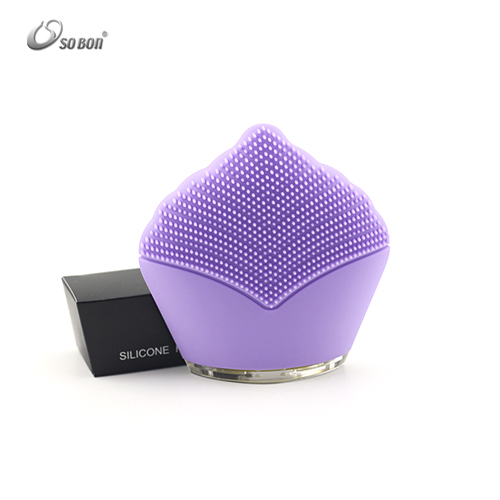Private label dropshipping electric facial cleanser brush silicone cleaning equipment for skin cleansing