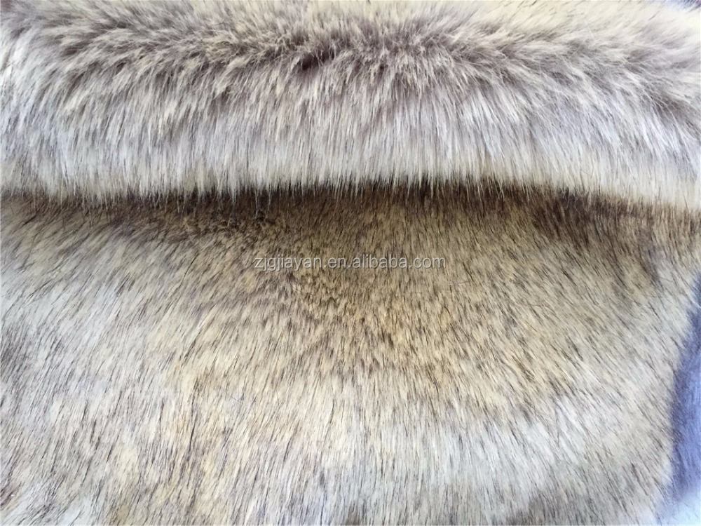 heavy weight synthetic coyote fur