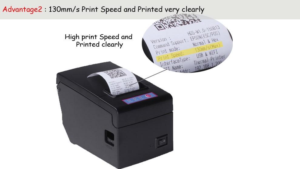Pos 58 Printer Thermal Driver Hs-e58u High Speed 130mm Quality Slip Printer  Printing Ticket Machine Usb Port Without Cutter - Buy Pos Printer,Pos 58