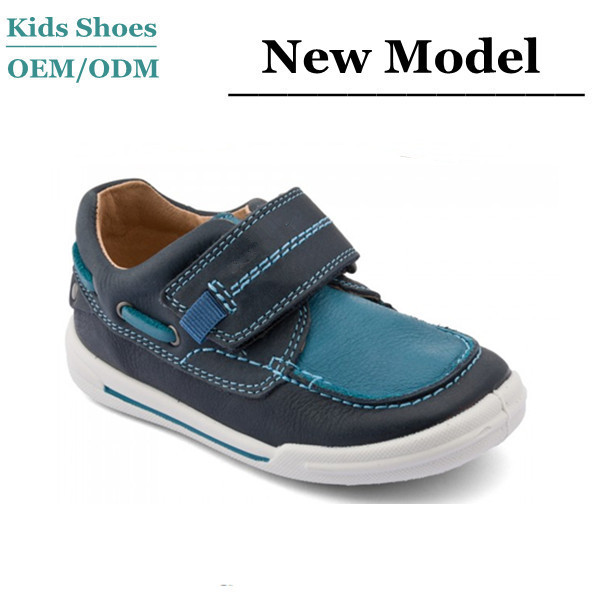 OEM Custom Made Leather or PU Children Casual Footwear