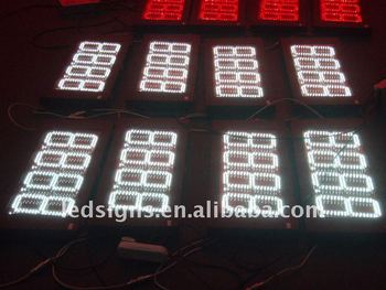 Waterproof LED price display for gas station price signage