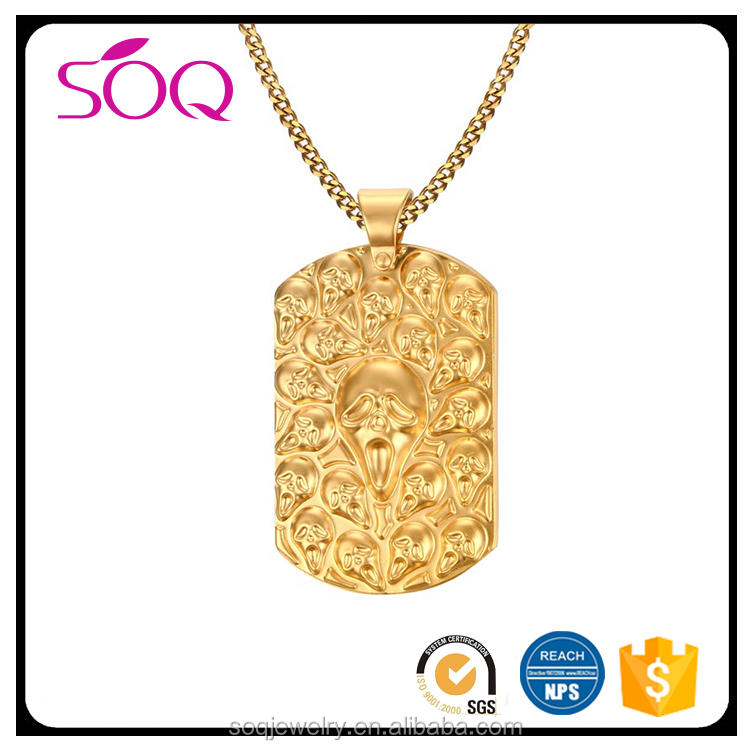 Wholesale Cheap Custom gold accessory tag charm jewelry for men