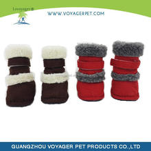 Lovoyager Warm Winter Dog Boots with Furry to Protctive Dog feet
