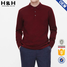 Mens Cotton Golf Long Sleeve Classic Solid Slim Casual Polo T Shirt