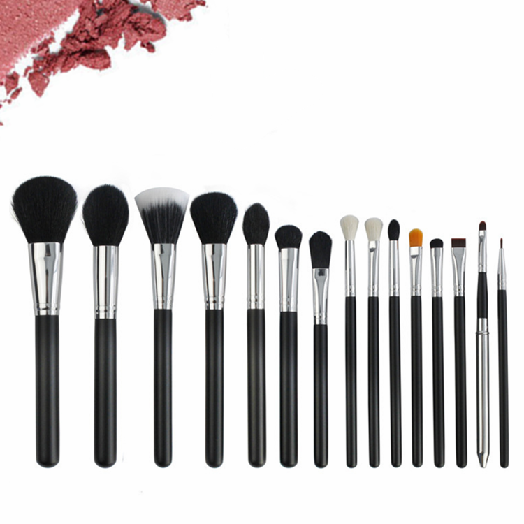 <strong>Best</strong> quality goat hair makeup <strong>brushes</strong> 15 Pcs