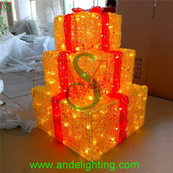 Acrylic Lighted Outdoor Christmas Decorations Gift Boxes - Buy ...