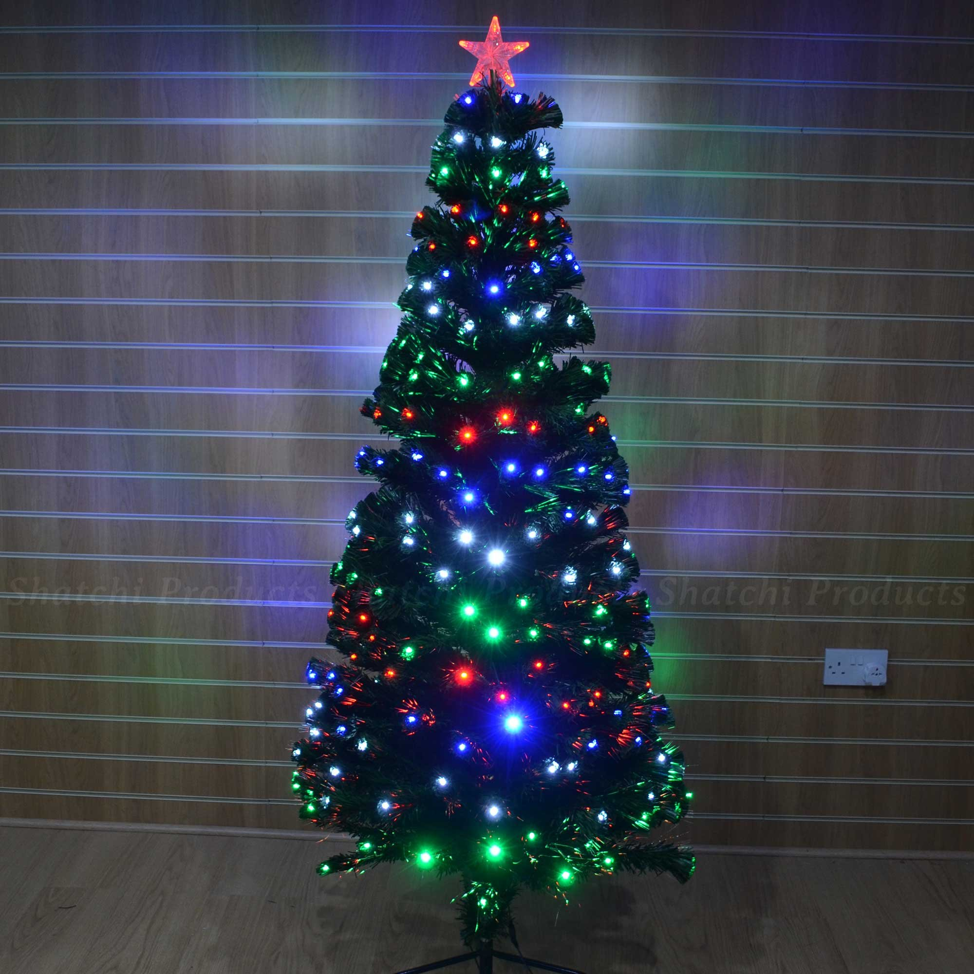 get quotations 2ft led fibre optic christmas tree pre lit stars and led lights 6066