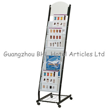 Wholesale Floor Standing Metal Movable Office Brochure Holder Stand Free  Stand Tabloid Newspaper Flyer Magazine Display