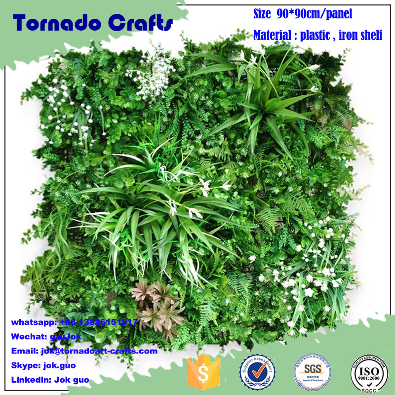 Tornado crafts Wholesale alibaba home decor plastic vertical green wall system customized different types of green wall vertical