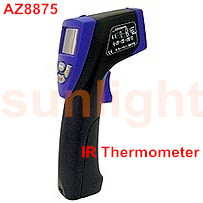 IR Thermometer, -40 - +500 Centigrade, Emissivity Adjustable, 10:1 AZ8875
