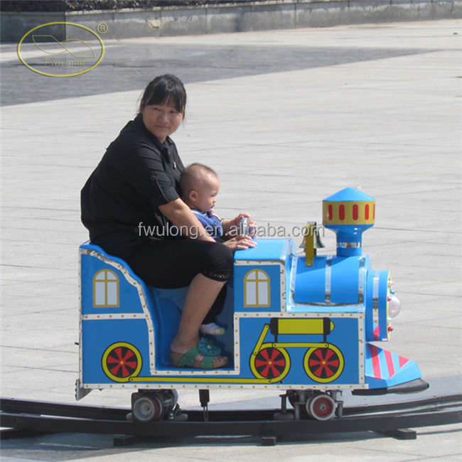 Shopping center kids mini track train rides electric mall trains track train live status