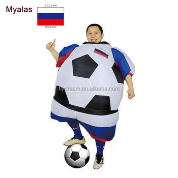 0fa746515c Russo Piede palla Gonfiabile Costumi Coppa del mondo Russia Pallone Da  Calcio Carnevale Costume di Halloween