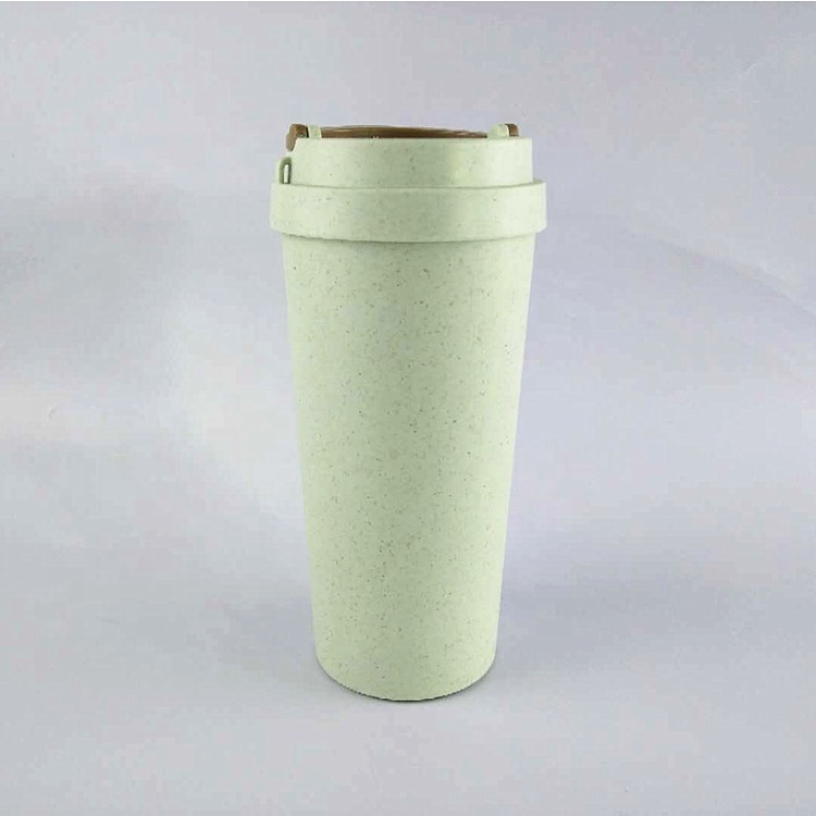 400-500 ml couvercle verre à eau Tasse paille de blé boisson bouteille Tasses avec paille