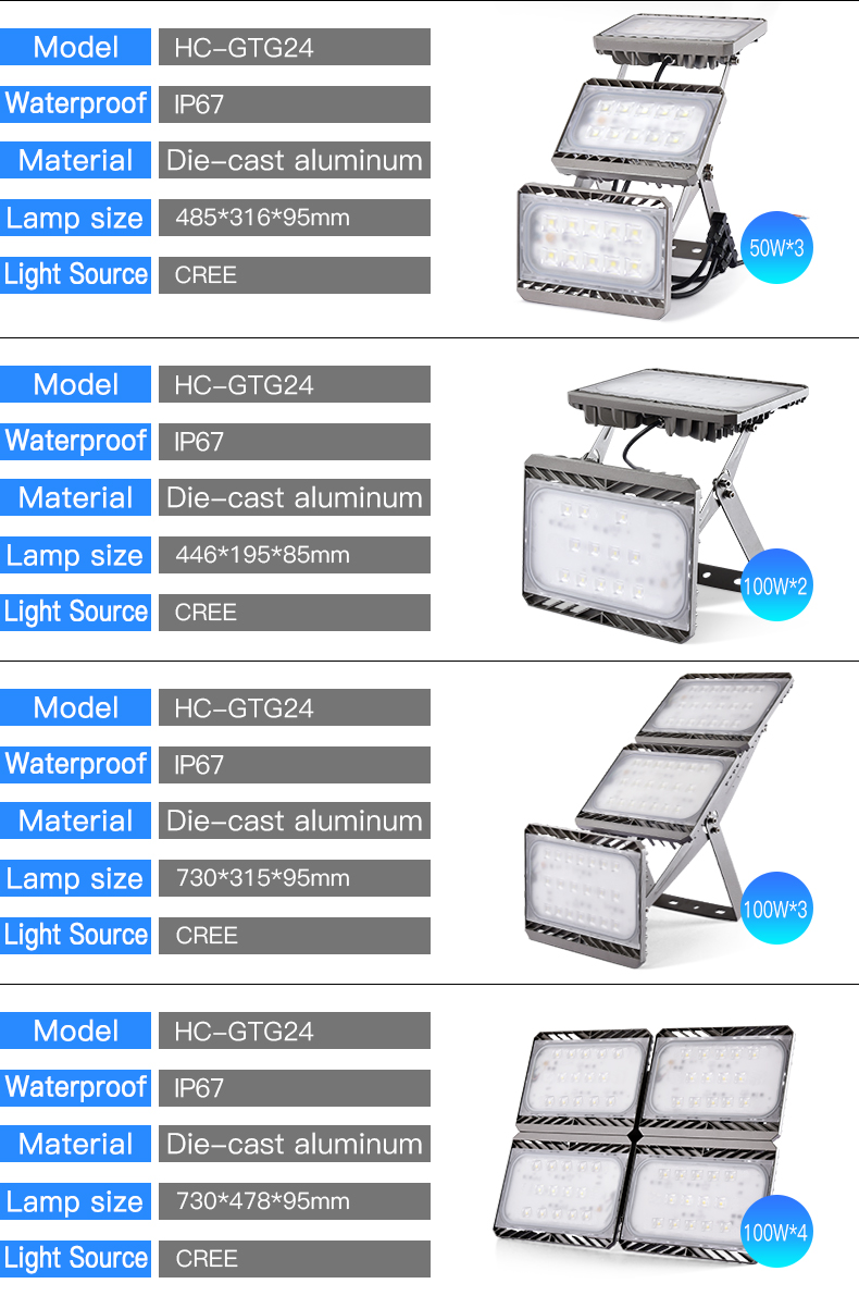 Factory price Industry 4.0 waterproof ip67 outdoor smd 30w 50w 100w 200w 300w 400w led floodlight
