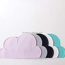 Mat with cloud shape Silicone baby table placement Silicone Mat with cute pattern