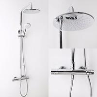 Rain Shower Head Wall Mounted Faucet Set