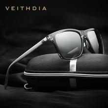 VEITHDIA Brand Unisex Retro Aluminum TR90 mirror font b Sunglasses b font Polarized Lens Vintage Eyewear
