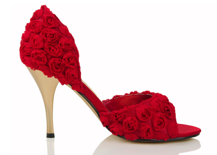Ladies High Heel Fancy Sandals Heel Sandals White Wedding Shoes ...