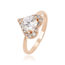 13832 xuping sieraden charmante rose vergulde meisjes hartvormige <span class=keywords><strong>ring</strong></span>