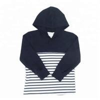 Wholesale boys stripe t shirt boys long sleeve hoodie children's boutique clothing