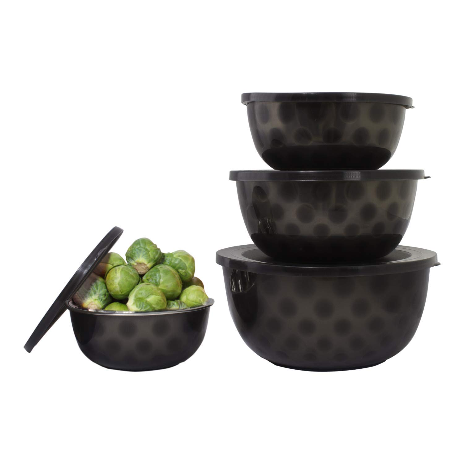 Get Quotations 4 Pc Stainless Steel Mixing Bowls With Lids Bowl Set Salad