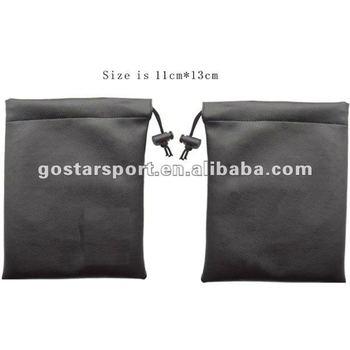 Black Nylon Golf Tee Bag