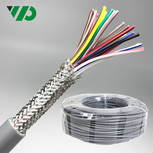 24 Core Copper Braiding Screen Twisted Pair Cable 075mm LIYCY PVC Shielded Electric Cable