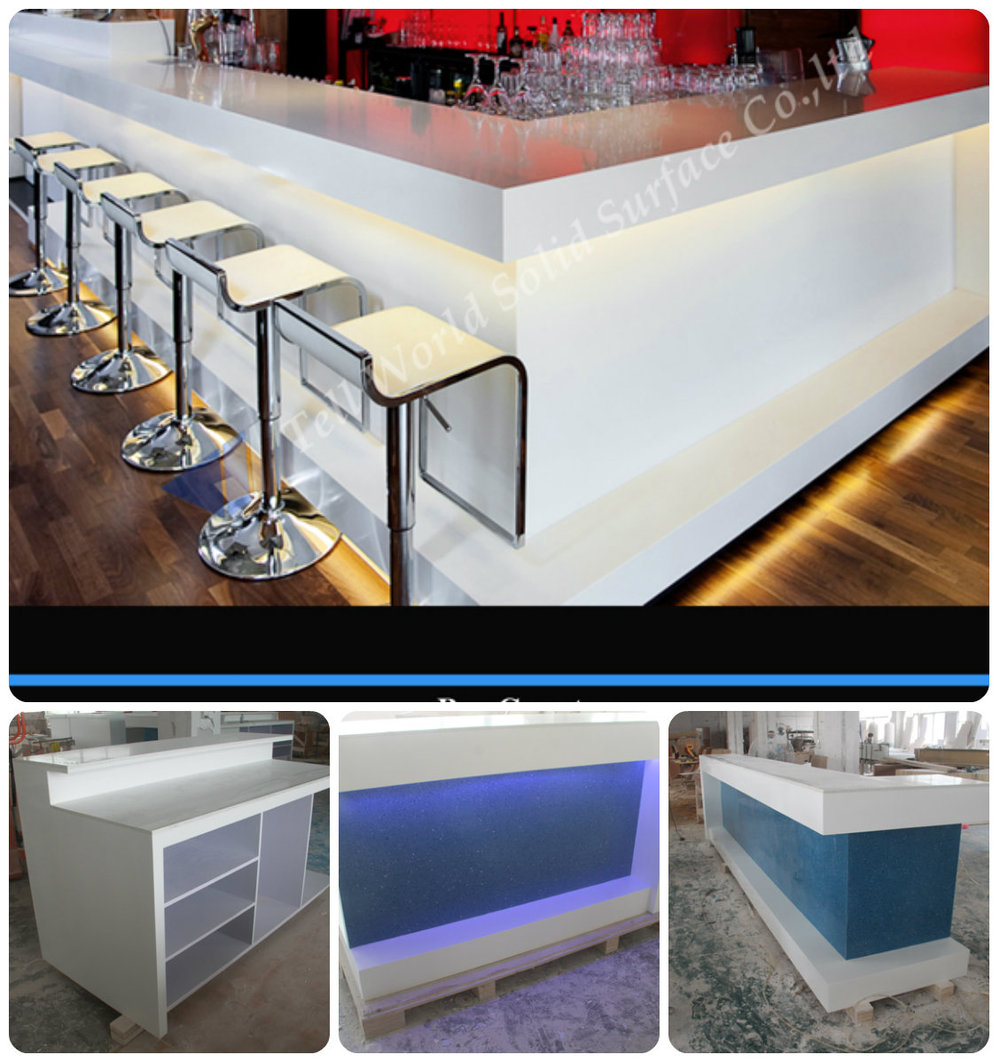 High Glossy L Shape Led Light Antique Wine Bar Counter For Sale ...