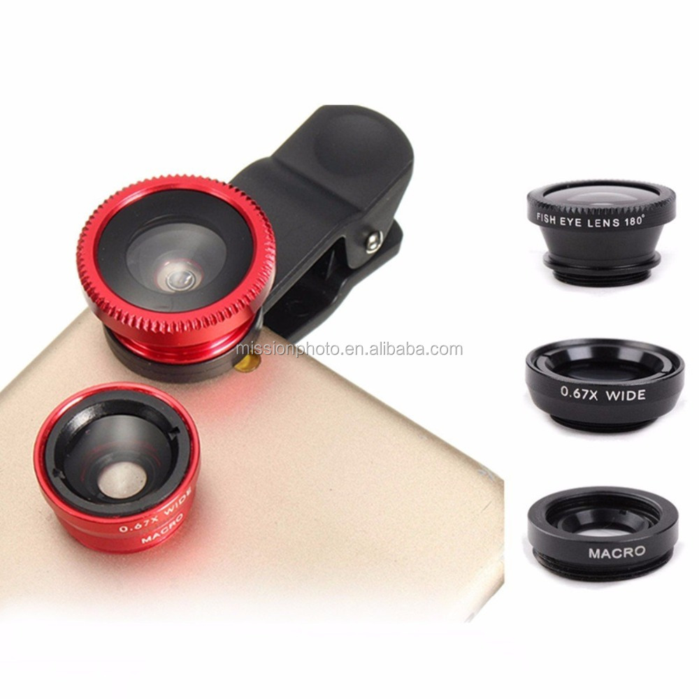Universal 3 in 1 Clip-On Mobile Phone Camera Lens Kit