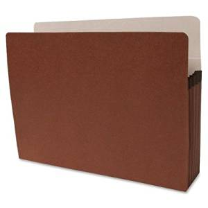 Sparco Accordion Expanding File Pocket - Letter - 8.50quot; Width x 11quot; Length Sheet Size - 5.25quot; Expansion - Ring Fastener - 5.25quot; Fastener Capacity - Redrope - Redrope - 10 / Box