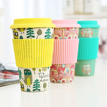 China Biodegradable Bamboo Fiber water Tumbler Disposable Eco coffee Cup