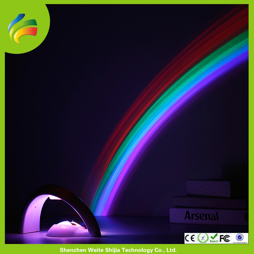 Battery Operated Rainbow Light Projector For Kids