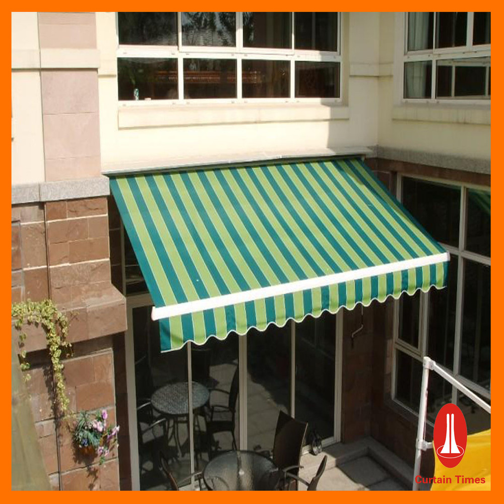 Curtain times retractable waterproof awning balcony in arm for Motor for retractable awning