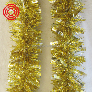 Promotional PET Glitter Tinsel With Star For Xmas Decoration/Party Decoration