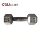Cast Iron Dumbbell Weight Lifting Training Grey Hammertone Hex Dumbbell