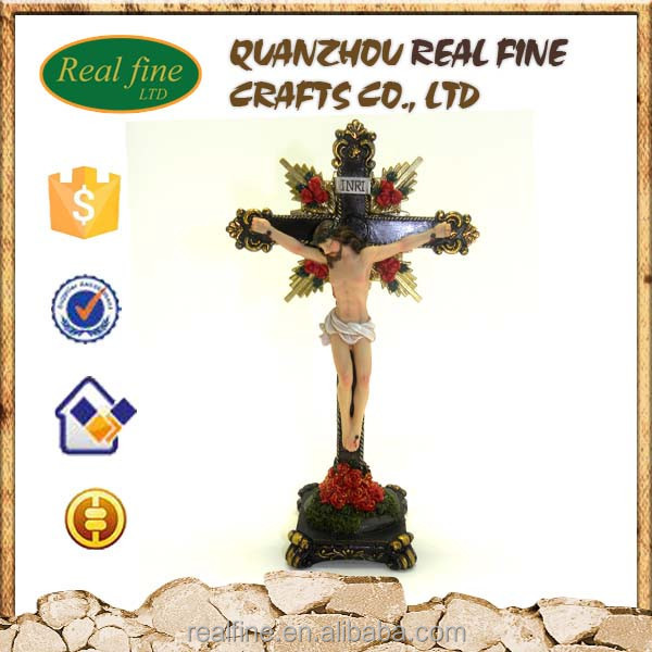 Polyresin custom Juses Cross craft for home decoration