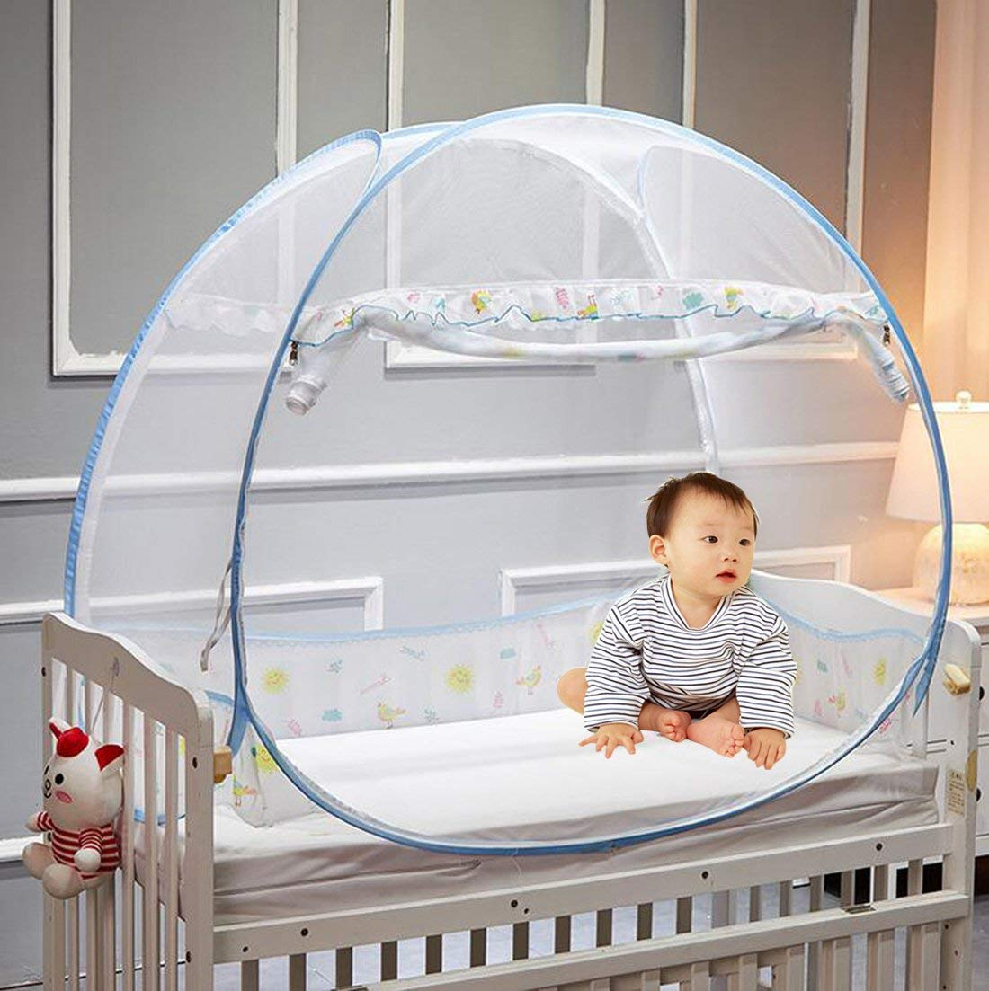 Get Quotations · CoutureBridal Baby Crib Tent Safety Net Foldable Pop Up Canopy Cover for Bed Mosquito Net Crib & Cheap Crib Tent Cover find Crib Tent Cover deals on line at Alibaba.com